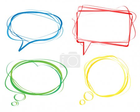 Colorful speech bubbles, vector