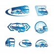 Business logos with cars silhouettes...