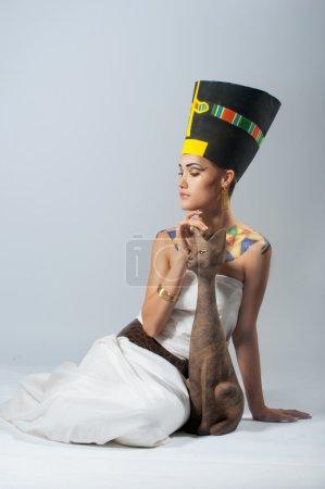 Photo pour Déesse Néfertiti - image libre de droit