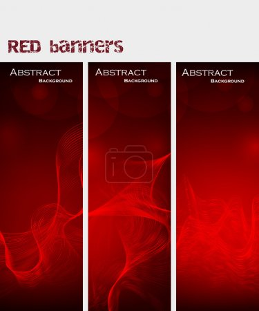 Abstract background. red banners. Vector Illustration