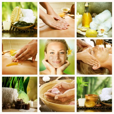 Photo pour Collage de Spa. Dayspa concept - image libre de droit
