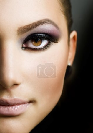 Beautiful Woman Face. Perfect Makeup...