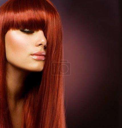 Hairstyle.Healthy Hair .Beautiful Girl portrait