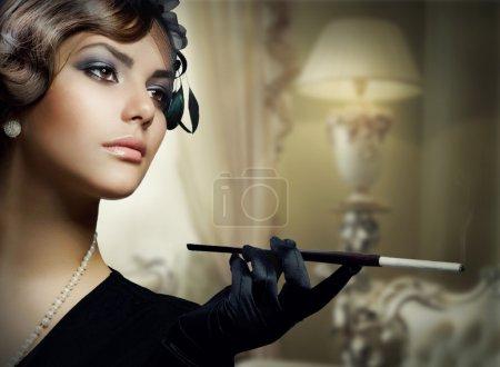 Romantic Beauty. Retro Style, Luxury interior