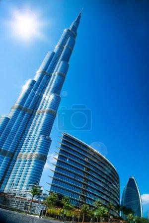 Photo pour Burj Khalifa. Vue du centre ville de Dubaï - image libre de droit