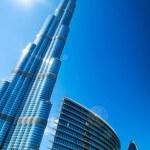 Burj Khalifa. View from Downtown Dubai...