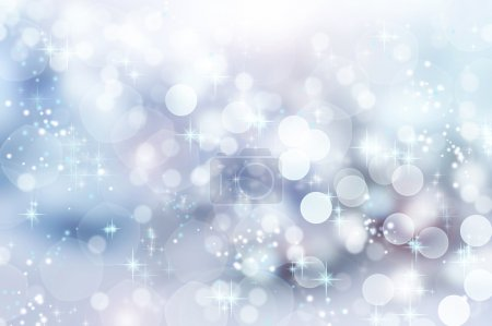 Abstract Winter background. Christmas abstract bokeh