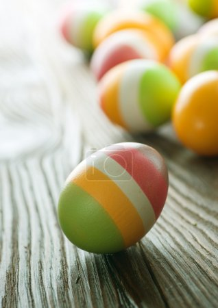 Colorful Easter Eggs. Selective Focus