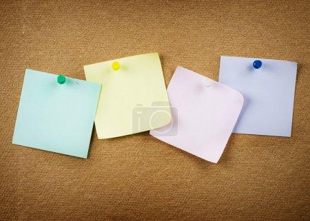 Paper On Cork Notice Board