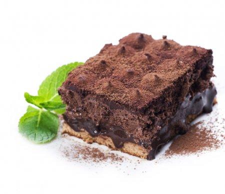 Chocolate Cake truffle over white