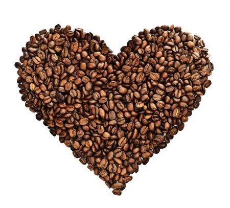 Photo pour Cœur de café plus blanc - image libre de droit