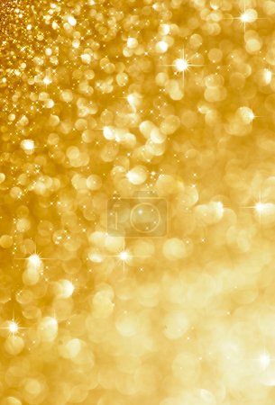 Photo for Christmas gold blinking background - Royalty Free Image