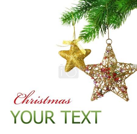 Photo pour Boules de Noël. design de frontière sur blanc - image libre de droit
