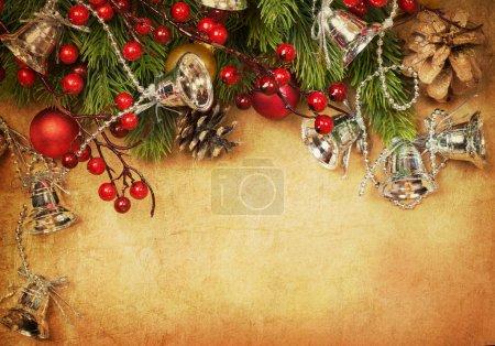 Photo pour Carte rétro de Noël - image libre de droit