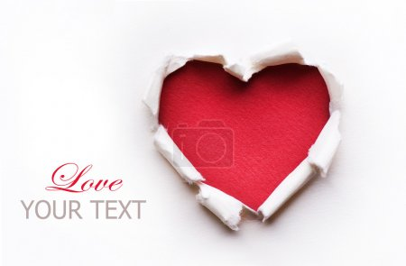 Photo pour Conception de cartes de coeur Saint-Valentin - image libre de droit