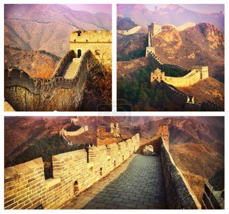 Photo pour Grande Muraille Collage.Chine - image libre de droit