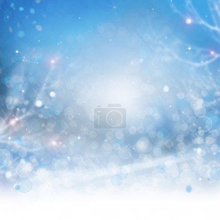 Photo pour Abstrait d'hiver. beau bokeh - image libre de droit