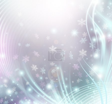 Photo for Abstract Winter Holiday Background - Royalty Free Image