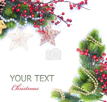 Photo for Christmas and New Year Border - Royalty Free Image