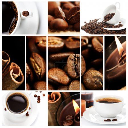 Photo for Beautiful Coffee Collage - Royalty Free Image