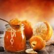 Orange homemade jam...