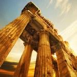 Old Ruins. Roman Columns In Baalbeck, Lebanon...