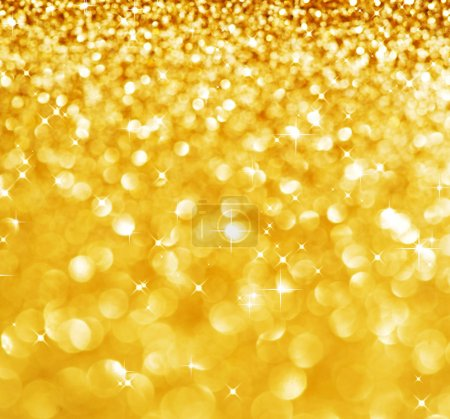 Photo for Christmas Glittering background.Holiday Gold abstract texture.Bokeh - Royalty Free Image