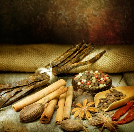 Photo for Various Spices - Royalty Free Image