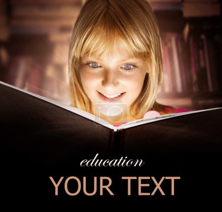 Photo for Kid reading the Book. Education - Royalty Free Image