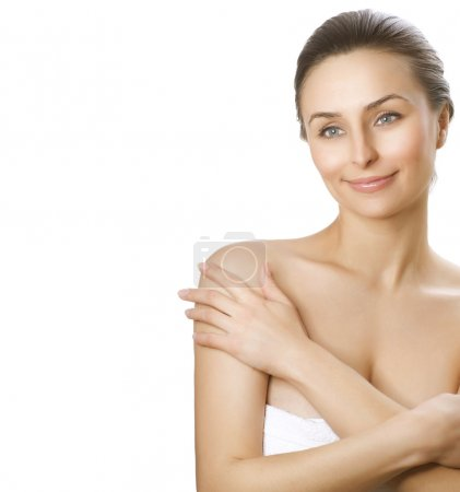 Beautiful Young Woman with fresh healthy skin. Spa woman concept