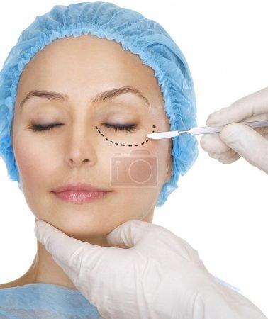 Plastic surgery concept.