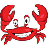 Vector Illustration Of Funny crab cartoon