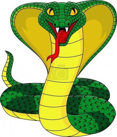 Illustration pour Illustration vectorielle du roi Cobra - image libre de droit