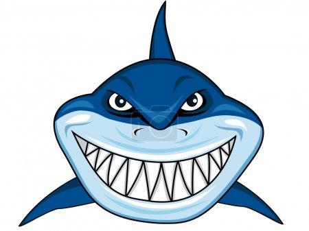 Illustration for Vector Illustration Of Smiling shark - Royalty Free Image