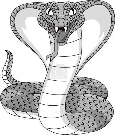 Illustration pour Illustration vectorielle de tatouage de cobra en colère - image libre de droit