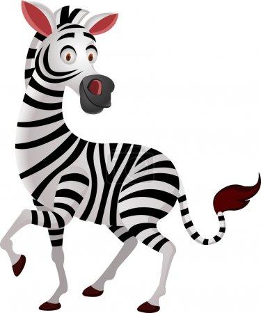 Illustration for Vector Illustration Of Zebra Cartoon - Royalty Free Image