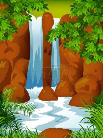 Waterfall background