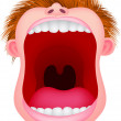Vector Illustration Of Open mouth...