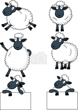 Illustration for Vector Illustration Of Sheep cartoon - Royalty Free Image