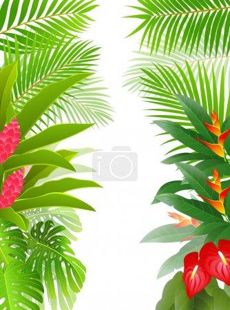 Illustration pour Illustration vectorielle d'un beau fond de forêt tropicale - image libre de droit