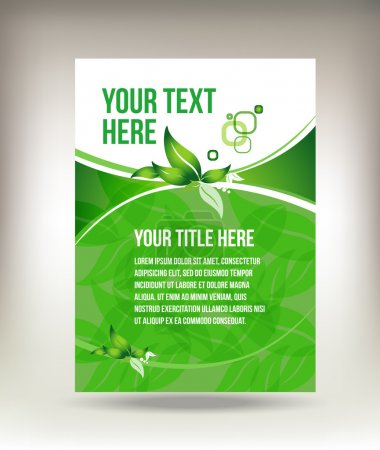 Illustration for Eco green flyer design isolated on background - Royalty Free Image
