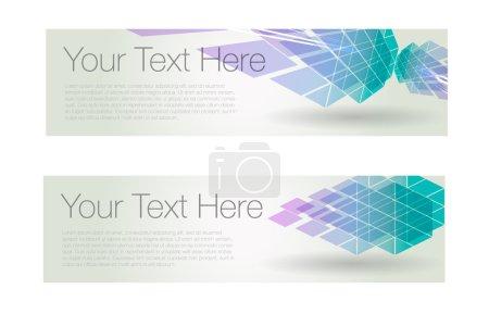 Horizontal geometric banner