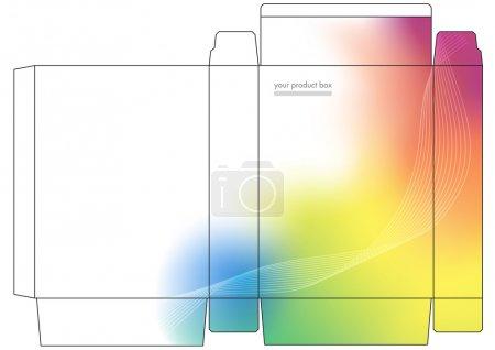 Illustration pour Boîte pliante du produit logiciel Vector - image libre de droit