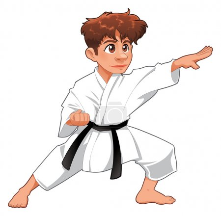 Baby Karate Player.