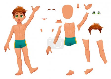 Illustration for Parts of body. Cartoon and vector separated elements. - Royalty Free Image