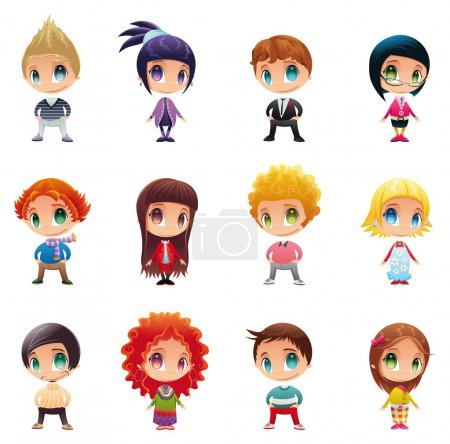 Illustration for Set of funny . Cartoon and vector characters. - Royalty Free Image