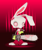 Horror bunny with background