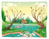 Pond and animals