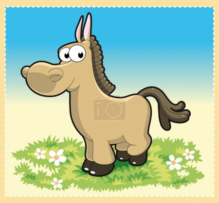 Illustration for Horse. Cartoon vector character - Royalty Free Image