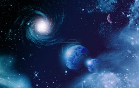 Photo for Universe with stars and planet - Royalty Free Image